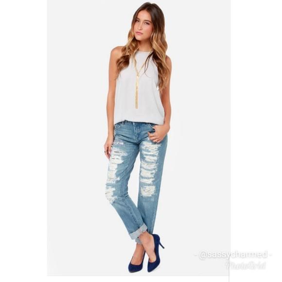 Blank NYC Denim - Blank NYC Galaxy Distressed Straight Leg Jeans